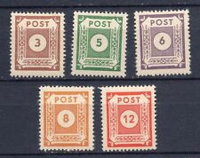 Mint Never Hinged/MNH Numeral Cancellation European Stamps