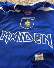 2012 Iron Maiden Soccer Football Jersey Blue T-Shirt Size Large Made in England