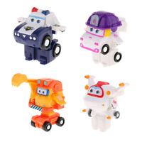 4X Toy Character Super Wings Transforming Robot ZOEY KJM Astro Scoop Playset