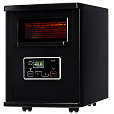 Electric Infrared Portable Heater Remote Control 1500 W Wheels Indoor Warm Home
