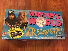 Waynes World 1992 VCR Board Game Mattel 99% Complete (Missing 1 Card) SNL
