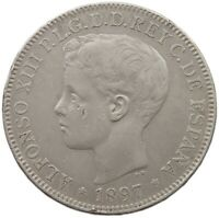 PHILIPPINES SPANISH PESO 1897 #t135 525