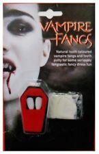 Vampire Fangs Teeth & Putty Horror Halloween Fancy Dress Make Up Theatrical