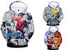 Seven Deadly Sins Anime Mens Womens Hoodies 3D Print Pullover Sweatshirt Jacket