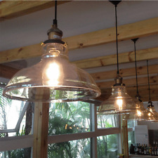 Vintage Industrial Ceiling Pendant Light Retro Loft Style Glass Shade Lamp