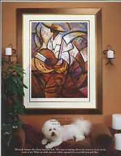 """African American Black Art """"EL SENOR"""" a Serigraph by Jerry and Terry Lynn"""