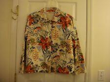 Women's Units Tropical Floral 100% Cotton Lined Jacket Size XL
