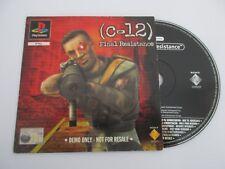 CD Démo C-12 FINAL RESISTANCE - SONY PLAYSTATION - Démo PS1 PAL SCED-03516