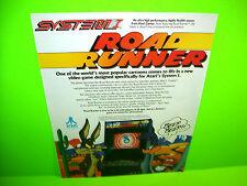 Atari ROAD RUNNER 1986 Video Arcade Game Promo Ad Not A Flyer b/w ARKANOID