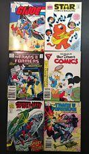 Mini Comic Book Lot Of 6 Transformers Spiderman GI Joe Heathcliff Disney