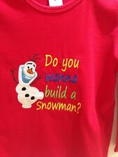 SALE!! Frozen Olaf Disney Boys Shirt Size  4 embroidered long sleeve