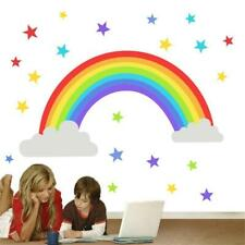 Rainbow Colorati Buon Compleanno Adesivi Festa brillante e divertente 37mm carta proiettili