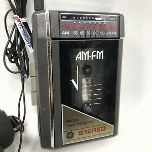 ✅❤️✅J Vintage GE Radio Tape/Cassette Player 3-5470A Portable AM/FM  HEADPHONES