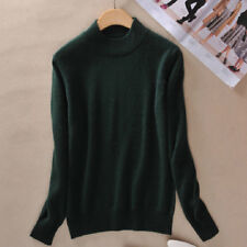 New Women Cashmere Sweater Autumn Winter Knitted Turtleneck Pullover Warm Blouse