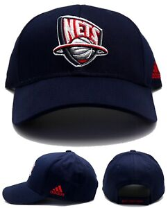 New Jersey Nets New NJ Brooklyn Adidas Vintage Team Cotton Blue Red Era Hat Cap