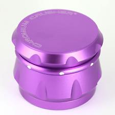 Chromium Crusher Drum 2.5 Inch 4 Piece Tobacco Spice Herb Grinder - Purple