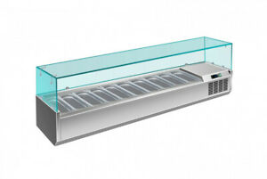 Saro Kühlaufsatz Kühlvitrine Salatvitrine Saladette Salatbar (10x1/4GN) 2000mm