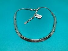 """Brighton Hammered Etched Silver """" Infinite""""  Link  Collar Necklace  - NWT"""