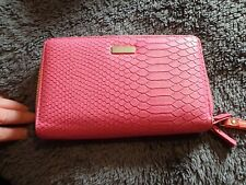 Large Holiday Purse - Pink - New - Holds tickets, passport, cash RRP £35