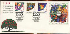 New Zealand 1991 Chistmas FDC First Day Cover #C12797
