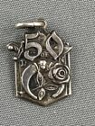 Vintage 1963 Daughters of the Nile Silver Masonic 50 year Charm Pendant Sterling