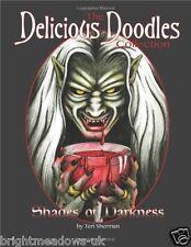Shades of Darkness Adult Colouring Book Gothic Fantasy Dark Fairy Mermaid Creepy