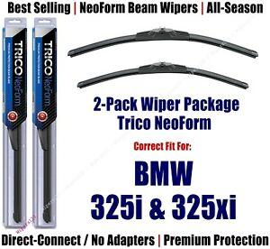2pk Super-Premium NeoForm Wipers fit 2006 BMW 325i & 325xi - 162412/1912