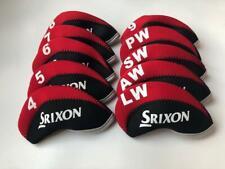 10Pcs Golf Club Headcovers for Srixon Iron Head Covers 4-Lw Red&Black Universal