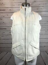Lauren Ralph Lauren winter white Vest Jacket Women L Outdoor EUC