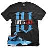 "Black ""CACTUS JACK IV"" T Shirt for Jordan 4 IV Cactus Jack University Blue UNC"