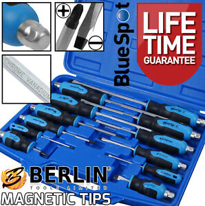 Magnetic Screwdriver Set HEAVY DUTY Philips & Slotted Go Through Drivers PH0-PH4
