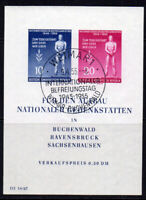 East Germany Miniature Sheet of Stamps c1955 (April) Fine Used (7966)