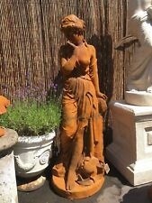 Large female statue in cast iron Maiden sculpture