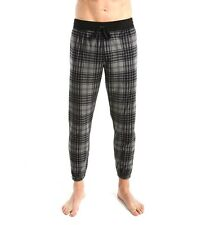 Calvin Klein Comfort Fleece Plaid Jogger Charcoalgrey Size XL NM1184-031
