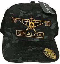 EL AVION DEL CHAPO SINALOA  MEXICO  701 HAT 2 LOGOS DIGITAL HAT GRAY BLACK