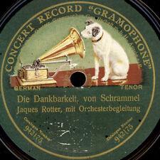 Jaques Rotterdam-tenore-gratitudine/oro e argento schellackplattet s9315