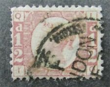 nystamps Great Britain Stamp # 58 Used $80 Plate 20