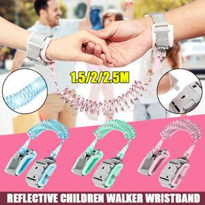 Reflective Key Lock Whistling Safety Leash Anti Lost Wrist Link Belt Baby Kid