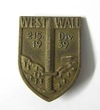 German Cap Badge 215th Infantry Division West Wall Hat Deutsch Kappen Abzeichen
