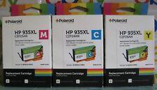 Tinta de impresora HP 935XL 3 Pack Cian, Amarillo, Magenta Polaroid reemplazo Cartridg