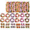 4Pcs/set Hawaiian Flower leis Garland Necklace DIY Decoration Fancy Dress Pa CJ