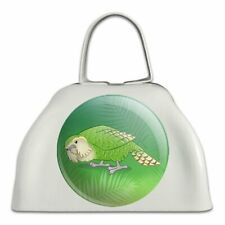 Kakapo the Flightless Owl Parrot White Metal Cowbell Cow Bell Instrument