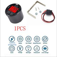 Red Backlt Car Marine GPS Speedometer kmh mph Clock Voltmeter Universal