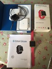 Fitbit Blaze Gold Series With Pink Strap, Charger & Box