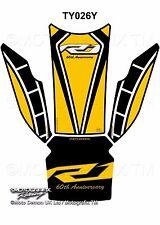 Yamaha R1 R1M 2015 16 17 Yellow Motorcycle Tank Pad Motografix 3D Gel Protector