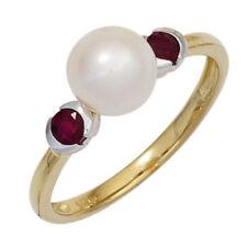 Echtschmuck-Ringe aus Weißgold mit 54 (17,2 mm Ø) Rubin
