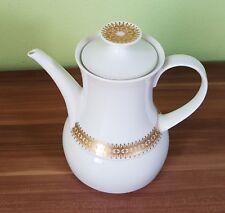 Edle Kaffeekanne Teekanne von Thomas Germany Porzellan Goldrand Rotunda
