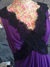 "Alexon Purple Black Lace Long Length 58"" Maxi Dress Pristine Size 12 Hols 9 May"