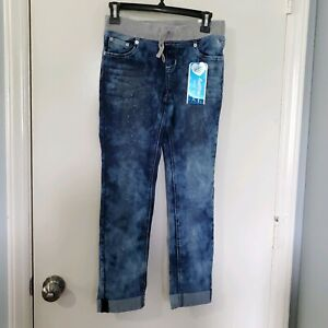 NWT Justice Girls Plus Glitter Simply Low Super Skinny Jeans Size 10.5