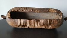African Slot Drum AFRICAIN Africa CONGO TAMTAM RARE ANTIQUE NOT MASK